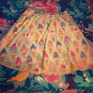Ice cream midi skirt